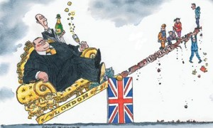 Dave Simonds cartoon on London's economic dominance